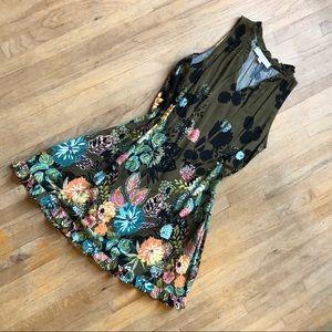 Loft Sleeveless Floral Dress